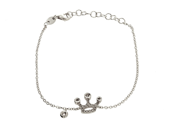 Crown Bracelet with Diamond