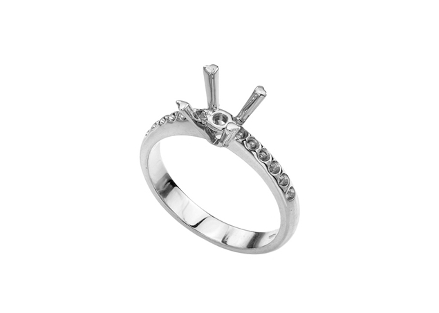 Micropave Engagement Ring