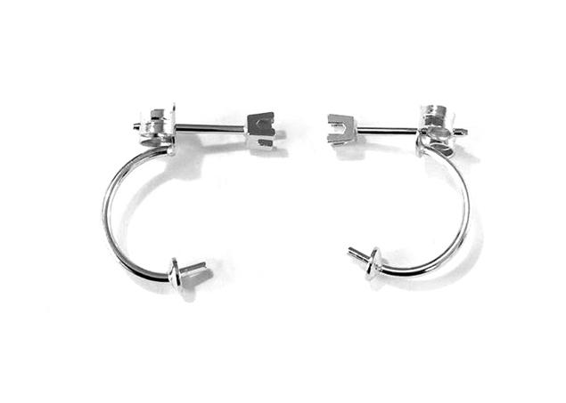 Diamond Set Ear Wire