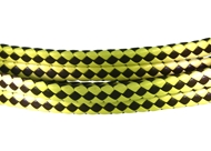 6x3mm Braided Genuine leather cord (Beige/brown))