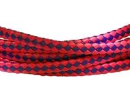 6x3mm Braided Genuine leather cord (Pink/Purple)