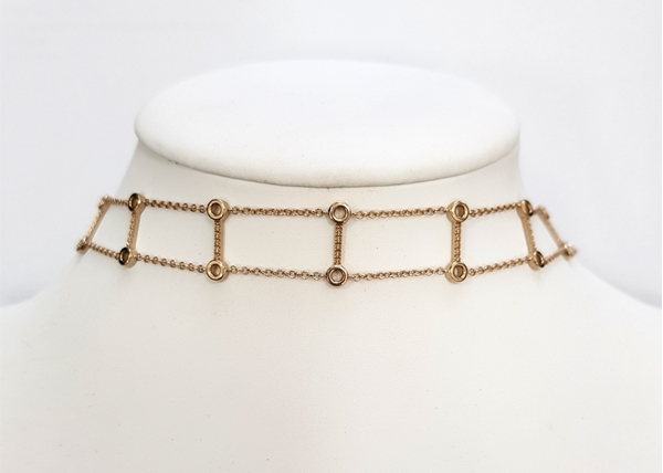 Picture of Bezel Set Chain Choker 36 cm