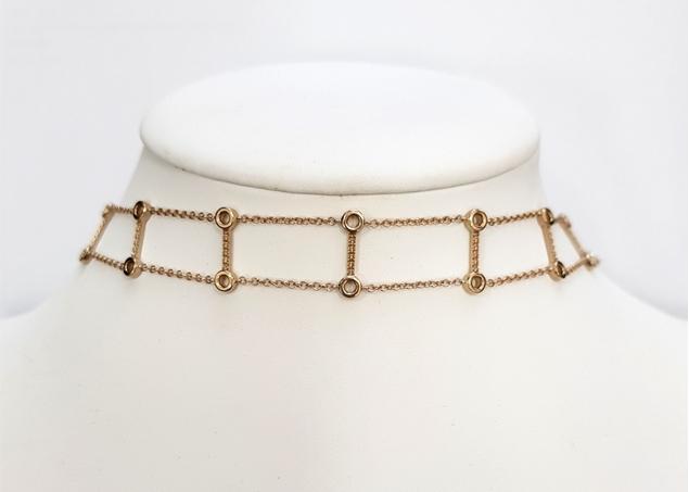 Изображение Bezel Set Chain Choker 36 cm