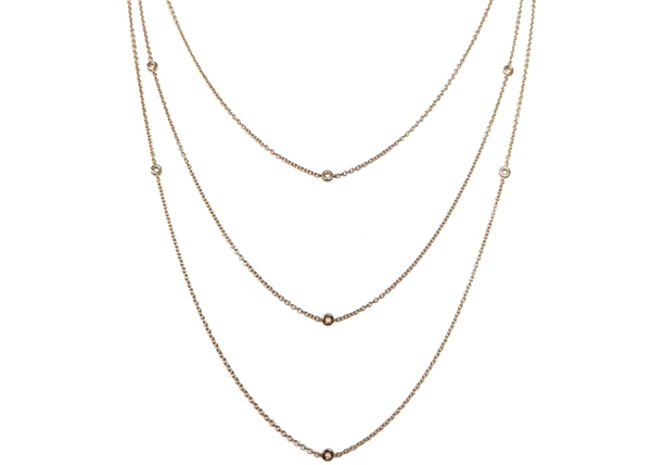 Picture of 3 Strand Bezel Set Chain 60 cm