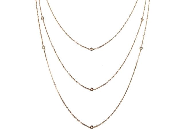 Изображение 3 Strand Bezel Set Chain 60 cm