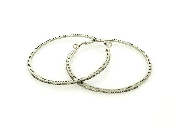 Изображение 67mm Pave Hoop Earrings