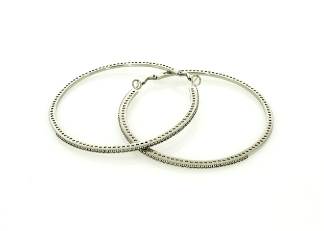 Picture of 67mm Pave Hoop Earrings