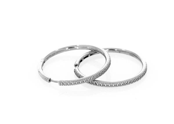 Изображение 28mm Pave Hoop Earrings