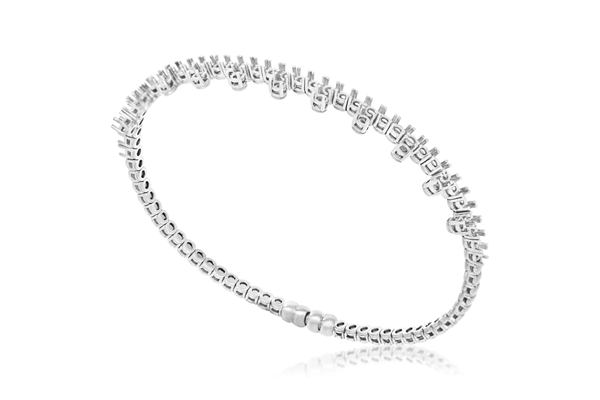 Изображение Diamond Bangle with Magnetic Clasp
