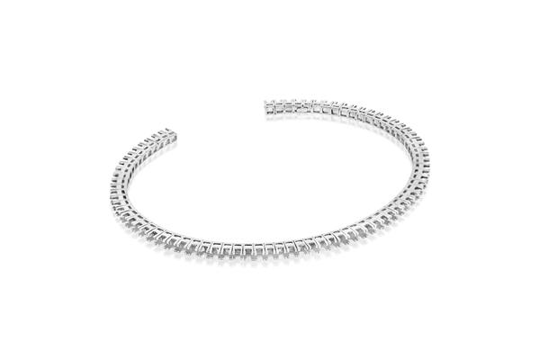 Изображение Open Flexible Diamond Bangle