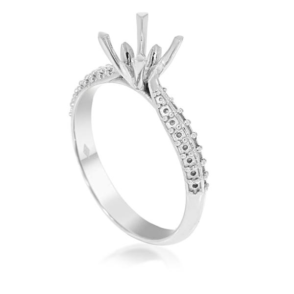 Изображение 2 Lines Side Stone Engagement Ring