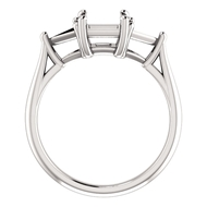 Изображение 3 Stone Square with 2 Triangle Ring