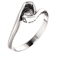 Picture of Semi Mount Cup Ring  With Side Stones