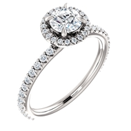 Picture of Halo Engagement Ring 1 CTW