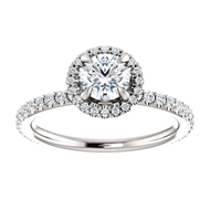 Изображение Halo Engagement Ring 1 CTW