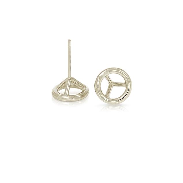 Picture of Bezel Diamond Earrings-Light