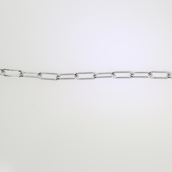 Picture of Flat Anchor Chain Rodium Plated 9x3.6mm