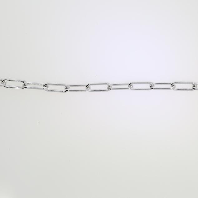 Изображение Flat Anchor Chain Rodium Plated 9x3.6mm