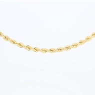 Picture of 3.8mm Diamond Cut Rope Hollow Chain