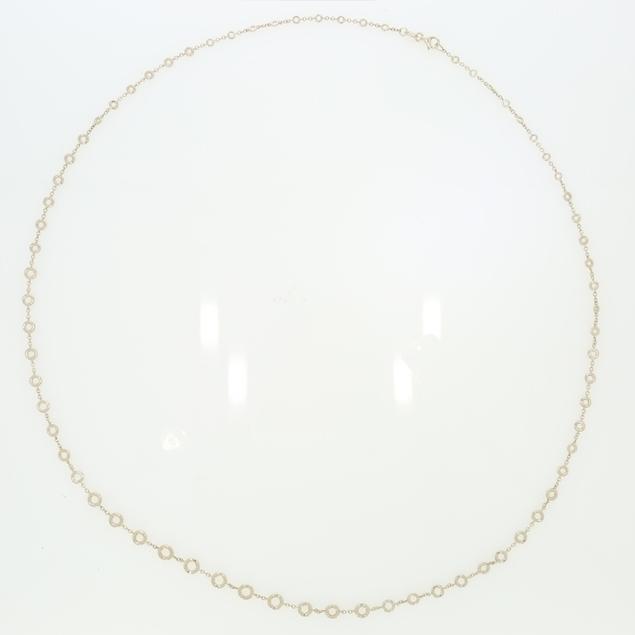 Изображение Bezel Set Diamond Necklace 4.75 CTW