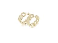 Picture of Link Chain Diamond Hoop Earrings