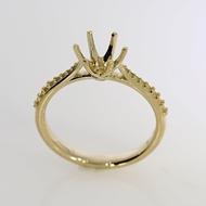 Изображение Diamond Rings with Side Stones 6 Prong