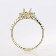 Изображение Halo Style Engagement Ring - Oval Center