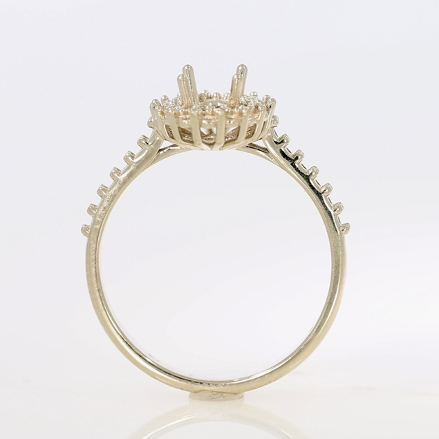 Picture of Halo Style Engagement Ring - Oval Center