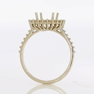 Picture of Halo Style Engagement Ring -Princess Center
